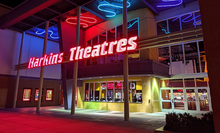 The Prescott Valley Harkins Theaters entrance is seen on March 16, 2020. (Courier photo)