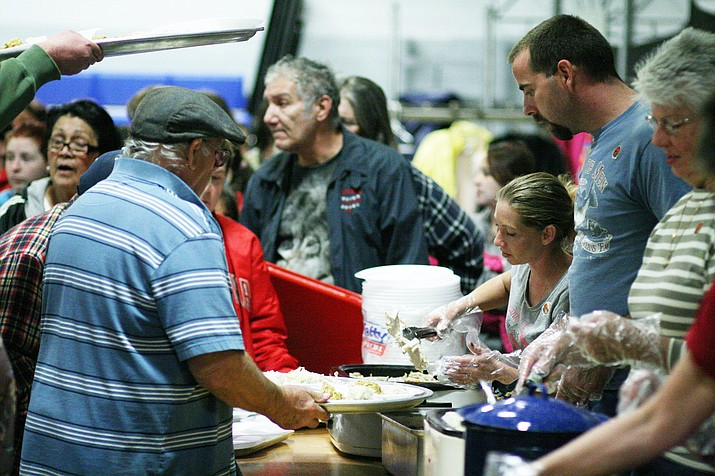 After March 17, Bread of Life will suspend its hot dinner program due to concerns over the coronavirus. But food distribution will be available Tuesdays and Fridays at the Camp Verde ramada. VVN/Bill Helm