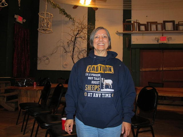 "Author of ""Where Have All the Sheep Gone? Sheep Herders and Ranchers in Arizona: A Disappearing History"", Barbara Jaquay, concludes her presentation March 11 at the Sultana Theatre. (B. Garibay/WGCN"