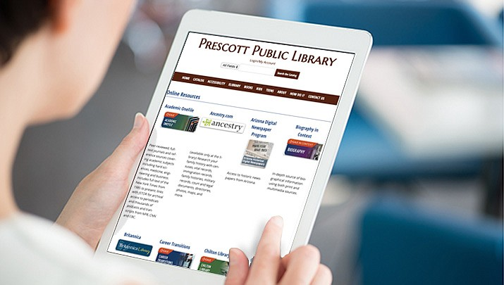 The Yavapai Library Network has free digital services that you can access for free right from your home using your library card. (Stock image)