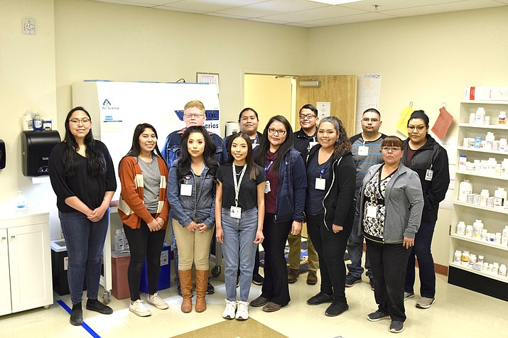 Members of the first cohort of the Pharmacy Technician Program at Tuba City Regional Health Care pose for a photo during a recent class. (Submitted photo)