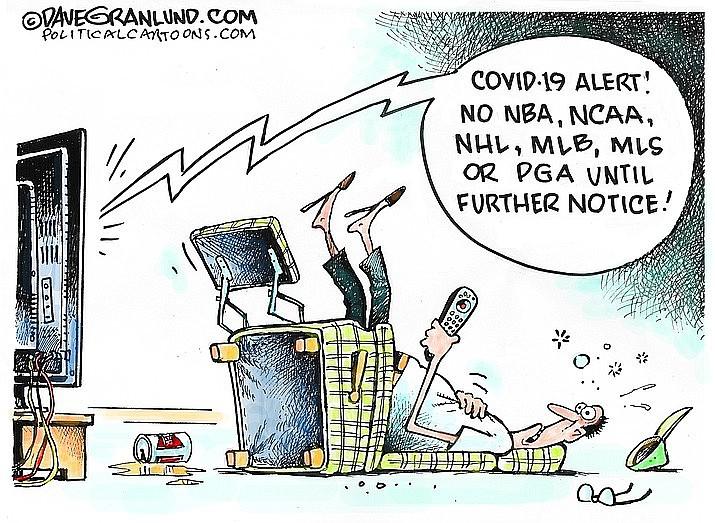 Editorial cartoon (1): March 18, 2020