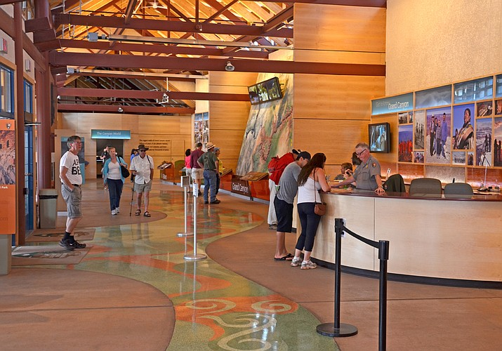 Most buildings, including the South Rim Visitor Center, have been closed at the Grand Canyon because of the COVID-19. (Photo/NPS)