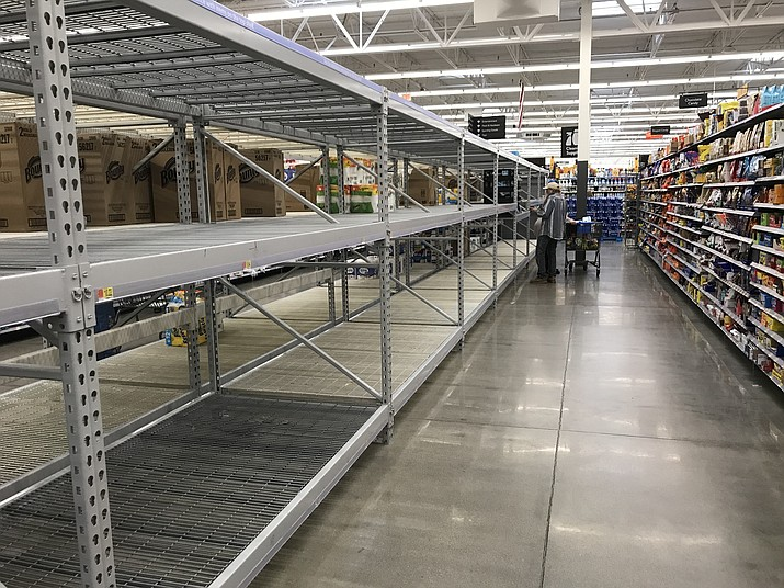 Empty store shelves may be a surprise, but check back – more supplies are on the way. (Courier file)
