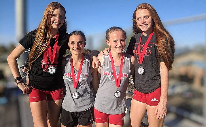 The Mingus Union's girls 4X800 team is currently ranked 10th in the state in Arizona Division 3. Mingus has six athletes competing for the four spots on the relay team. The AIA Board announced that it still hopes to resume spring sports at some point soon, including holding the respective sports' championships. VVN/Dan Engler