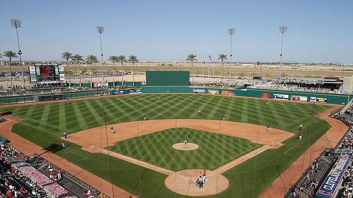 A employee who worked for the Cincinnati Reds at Goodyear Ballpark during spring training tested positive for the coronavirus. (Photo courtesy Cincinnati Reds)