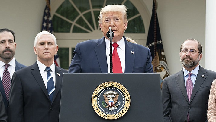 """U.S. President Donald Trump has described himself as a """"wartime president"""" fighting an """"invisible enemy."""" (Official White House photo/public domain)"""