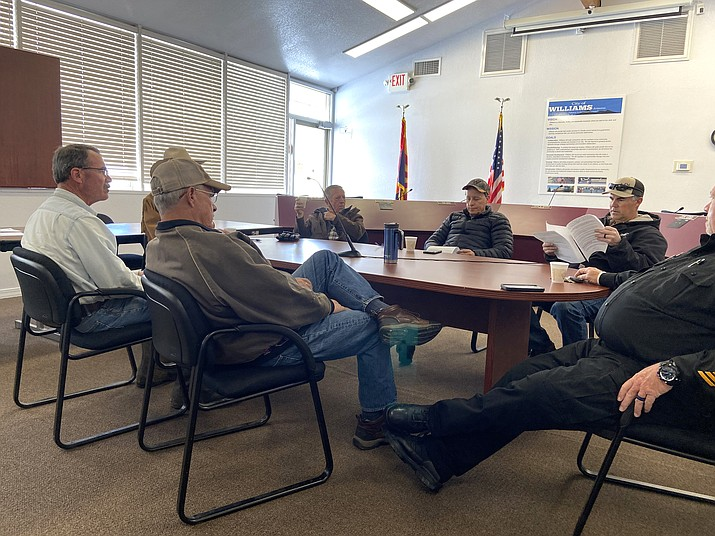 The Williams City Council held a special meeting to declare a state of emergency and discuss the recent Coconino County proclamation to close and restrict certain businesses because of the COVID-19 outbreak. (Wendy Howell/WGCN)