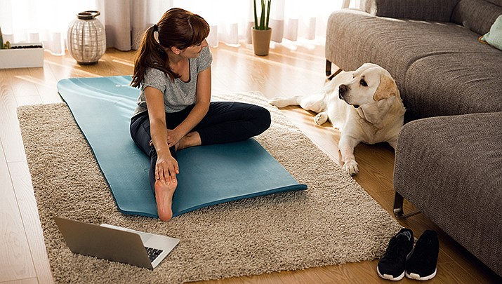 Many work-out facilities have closed, but you can still workout at home for free. We have compiled a short list of online workouts. (Stock image)