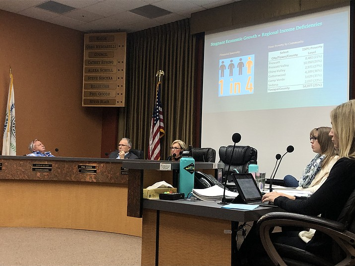The Prescott City Council listens to a report about economic development in the community during a Tuesday, March 10, 2020 meeting. (Courier, file)