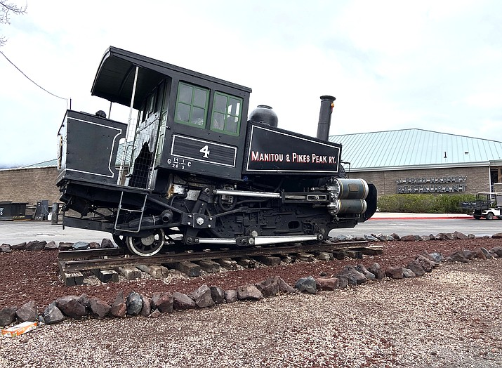 Steam Engine No. 4 from the Pikes Peak Cog Railway is on display at the Grand Canyon Railway. (Wendy Howell/WGCN)