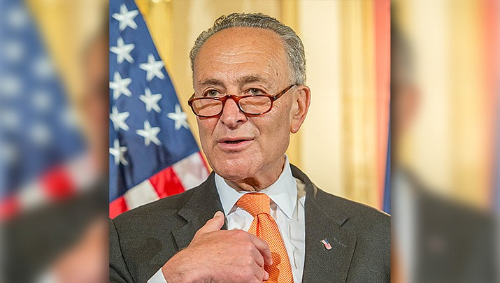 White House and congressional leaders say a virus aid package of about $2 trillion will likely be approved Tuesday, March 24. Senate Minority Leader Chuck Schumer (D-N.Y.) is shown above. (Photo by Senate Democrats/cc-by-sa-2.0, https://goo.gl/huYf1Z)