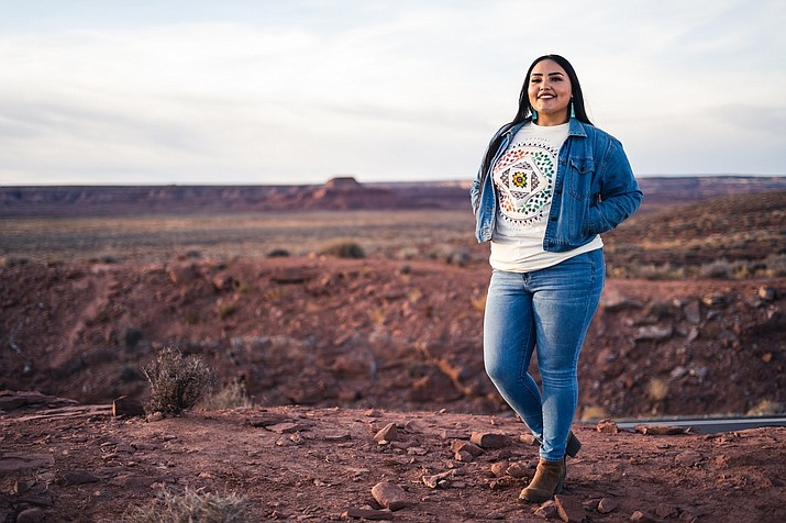 Shandiin Herrera is a Lead for America Hometown Fellows working with the Oljato Chapter of the Navajo Nation in Monument Valley. (Photo courtesy of Shandiin Herrera)