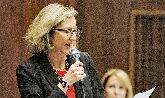 Rep. Kirsten Engel, D-Tucson, sought to enact what would be Arizona's first-ever law against price gouging. State lawmakers gave final approval to a $11.8 billion contingency budget Monday and went home, at least for a couple of weeks. Capitol Media Services/Howard Fischer file photo