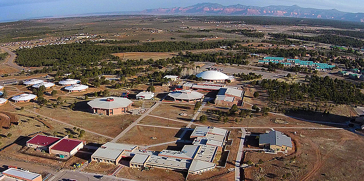 Picture of Diné College from above. (Photo Courtesy of Diné College )