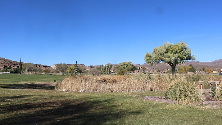 Cerbat Cliffs Golf Course, shown above, as well as City of Kingman parks, dog parks and trails, will remain open during the pandemic. (Photo by Travis Rains/Kingman Miner)