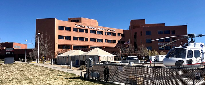 Temporary tents at YRMC West in Prescott and YRMC East in Prescott Valley will be used to screen people with COVID-19 symptoms. (YRMC/Courtesy)