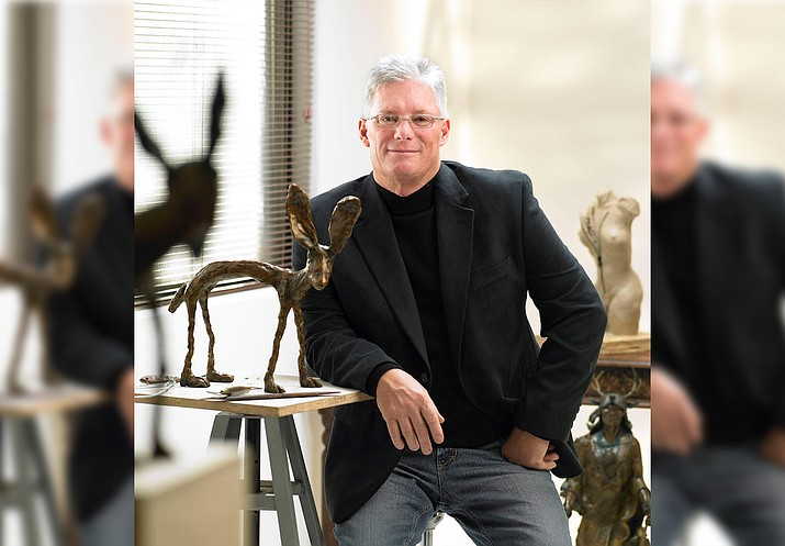 """Known for his whimsical and uplifting bronze sculpture, Chris Deverill has always had a deep appreciation for nature, beauty and a passion for art. From his """"Grande Pepper"""", a 35-inch tall rabbit, to his new """"Ella"""" the elephant, Chris captures the playful personalities of the animals he sculpts."""