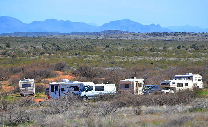 Dispersed campers along Bill Gray Road are putting stress on the Coconino National Forest. VVN/Vyto Starinskas