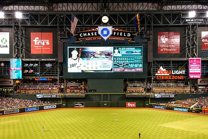 The D-backs were supposed to open the 2020 season on Thursday at Chase Field, but that game and the rest of the season is on hold due to the coronavirus pandemic. (File photo courtesy of Kelsey Grant/Arizona Diamondbacks)