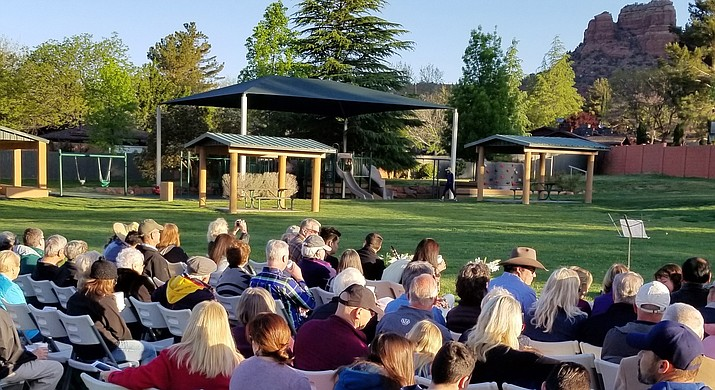 The annual VOC Community Easter Sunrise Service, hosted by the Village of Oak Creek Community Church of the Nazarene, is at Kiwanis Park next to the Oak Creek Country Club clubhouse, at 690 Bell Rock Blvd. Look for the Easter Sunrise Service signs.