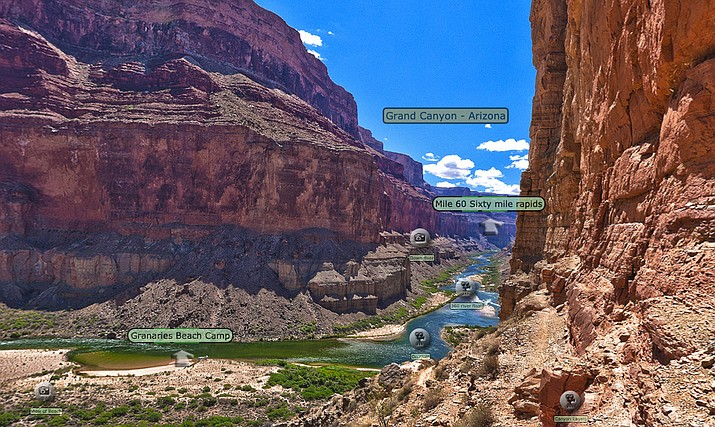 Visitors to the Virtual Field Trips site can choose between unguided tours, discovering the mystery of Blacktail Canyon or exploring remote areas of the Grand Canyon using imaging tools.  There are lots of hidden gems along the way.