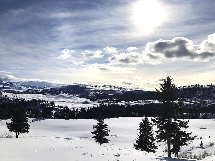 This Feb. 17, photo shows Yellowstone National Park's Lamar Valley near Mammoth, Wyoming. On March 24, the National Park Service announced that Yellowstone and Grand Teton National Parks would be closed until further notice, and no visitor access will be permitted to either park. Other national parks, including Grand Canyon remain open. (AP Photo/Matthew Brown)