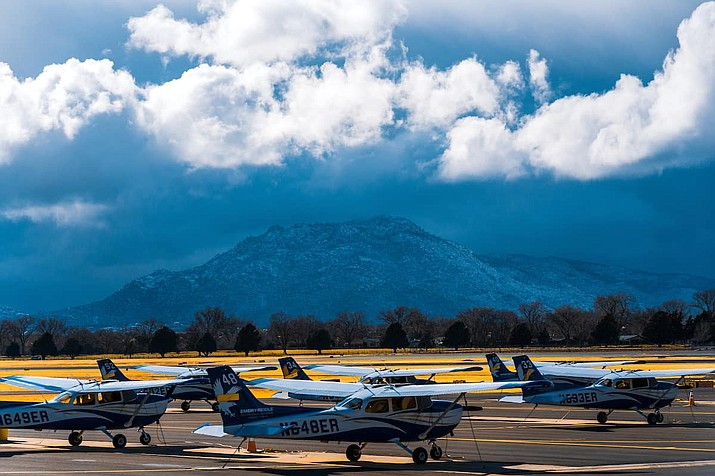 Embry-Riddle's flight program has been grounded after a staff member's roommate tested positive for COVID-19. (ERAU/Courtesy)
