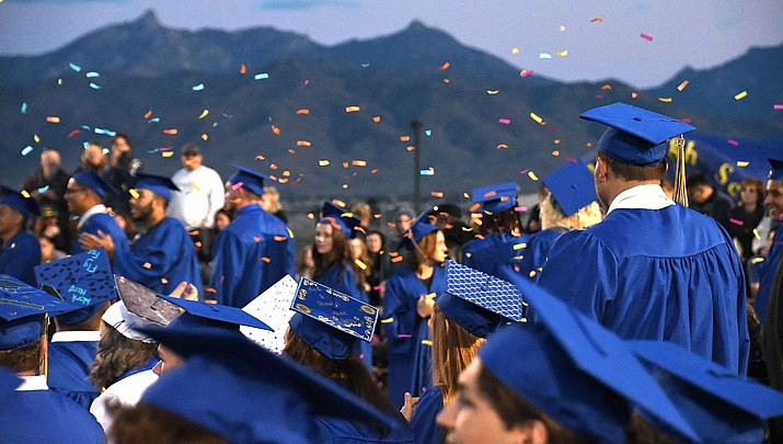 High school seniors in Kingman are unsure if their graduation ceremonies will be delayed or postponed due to the coronavirus pandemic. As of now, all area schools are scheduled to hold ceremonies in May. (Miner file photo)
