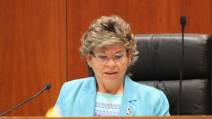 Jean Bishop, chairwoman of the Mohave County Board of Supervisors, says that residents should buy no more than two weeks of groceries at a time so that hard-to-find items like toilet paper and hand sanitizer are available for all. (Miner file photo)