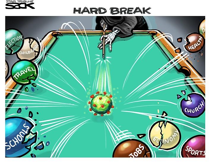 Editorial cartoon (2): March 30, 2020
