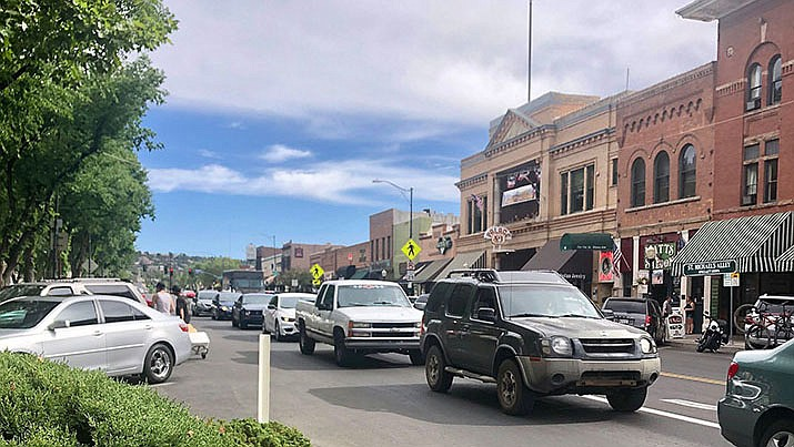 In this file image, traffic is seen in downtown Prescott. (Courier, file)