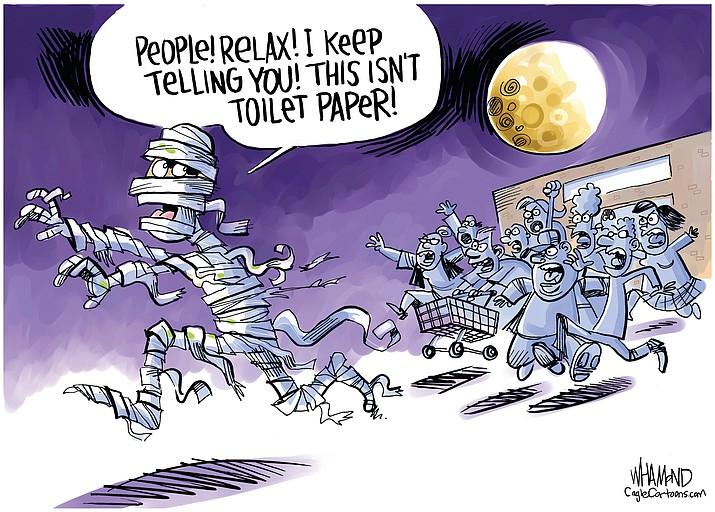 Editorial cartoon (2): March 31, 2020
