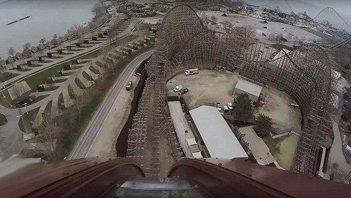 Work off the frustration of being cooped up and go on a virtual roller coaster ride. (Cedar Point, YouTube capture)