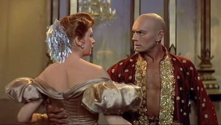 """In this image Yul Brynner and Deborah Kerr perform """"Shall We Dance"""" from the 1956 film version of """"The King and I."""" Broadway HD is offering a 7 day free trial with a monthly or yearly plan so that you can stream your favorite Broadway hits from anywhere, at any time. (Rodgers & Hammerstein)"""
