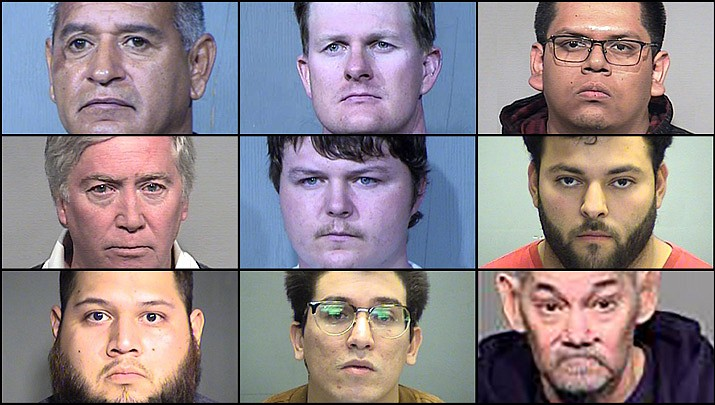 Operation Silent Predator was an undercover investigation targeting individuals soliciting sexual conduct with minors. In the course of the operational period, the nine defendants were arrested and accused of various sex crimes offenses. (Arizona Attorney General's Office)