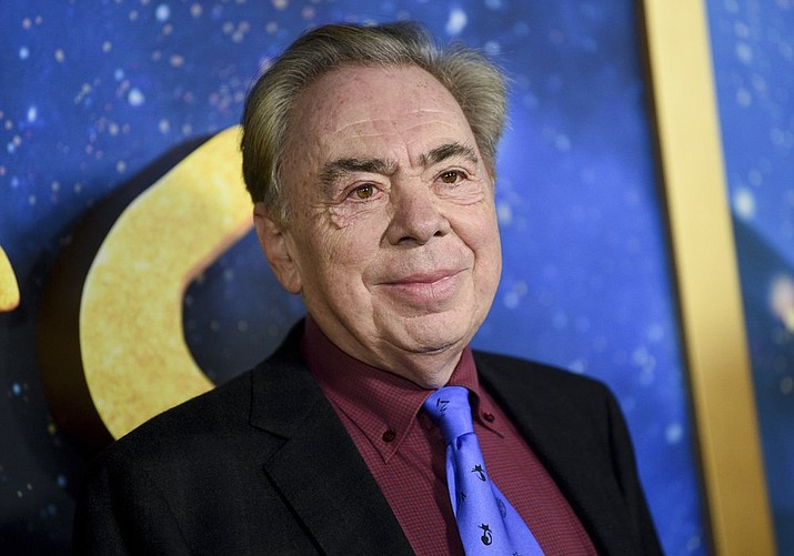 "This Dec. 16, 2019 file photo shows composer and executive producer Andrew Lloyd Webber attending the world premiere of ""Cats"" in New York. Webber is making some of his filmed musicals available for free on YouTube. On Friday, the 2000 West End adaption of ""Joseph and he Amazing Technicolor Dreamcoat"" starring Donny Osmond will be streamable, followed a week later by the rock classic ""Jesus Christ Superstar"" from the 2012 arena show starring Tim Minchin. (Photo by Evan Agostini/Invision/AP)"