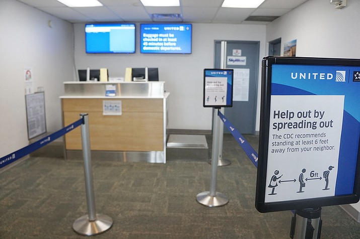 Passenger numbers have fallen dramatically on flights from the Prescott Regional Airport because of the threat of the coronavirus (COVID-19). Load factors are expected to be in the 10%-to-20% range in coming months. (Cindy Barks/Courier)