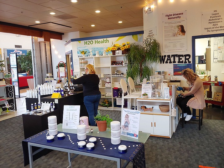 As an essential business during the COVID-19 pandemic, the H2O Health Store at Prescott Gateway Mall, next to JCPenney, sells purified, professionally-filtered water as well as filtration systems, among other health-related items. (Doug Cook/Courier)