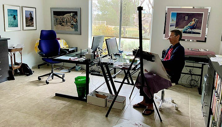 Performance artist, dancer, artists' model Pash Galbavy is hosting a live-streamed, online life drawing with Pash Galbavy, Mondays, 10  a.m. to 1 p.m. Courtesy photo