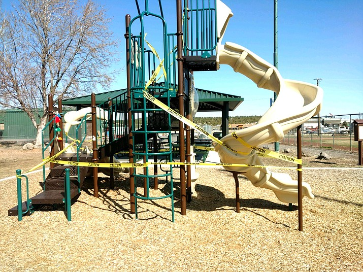 The city of Williams and Coconino County, in compliance with Gov. Doug Ducey's latest closure guidelines, closed playgrounds and ramadas April 4. (Submitted photo)