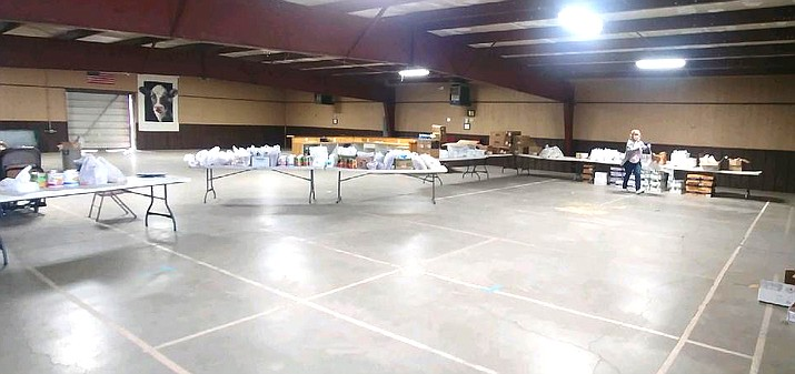 The Williams Salvation Army is accepting appointments for those who would like to pick-up food items located at the Rodeo Barn. Appointments can be made with Cindy Rioux at (928) 221-3577. (Photo/The Salvation Army)