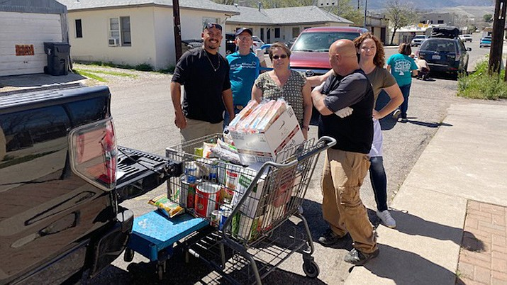 Thursday, April 2, volunteers from Bert Black Jr. VFW Post 7400 loaded up a truck filled with supplies to be taken to the Verde Valley Sanctuary, Cottonwood Senior Center, and the Old Town Mission in Cottonwood. The City of Cottonwood's newly formed Community Resources Program connected the VFW with the nonprofits. Courtesy photo