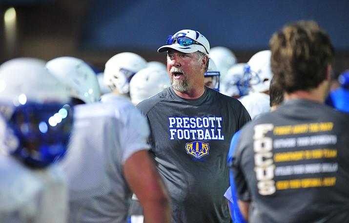 Then-Prescott football head coach Michael Gilpin (Courier file)