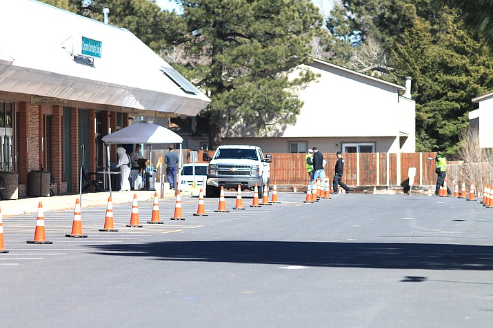 Coconino County has tested northern Arizona residents at the Coconino Community College Fourth Street campus for COVID-19. The county announced April 13 they would be setting up a test facility in Williams April 17 and at the Grand Canyon April 16. (Loretta McKenney/WGCN)