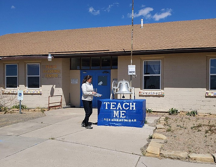 NAU Information Technology Services helped set up WIFI Hotspots on the Navajo and Hopi reservations. Photo/NAU Information Technology Services)