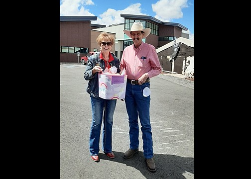 Williams Mayor John Moore visits with Sen. Sylvia Allen (R -Ariz.) in Williams April 9. (Submitted photo)