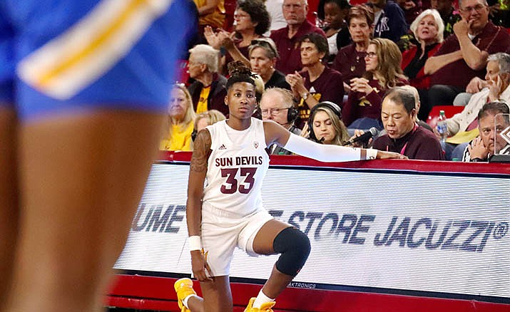 Arizona State senior Ja'Tavia Tapley is focused on playing professional basketball after being unable to perform at the NCAA Tournament. (Photo by Alex Weiner/Cronkite News)