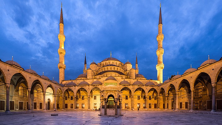 The Blue Mosque in Instanbul, Turkey, shown above, is dealing with coronavirus concerns along with the rest of the religious world. (Photo by Benh LIEU SONG, cc-by-sa-3.0, https://bit.ly/2RFTqQS)