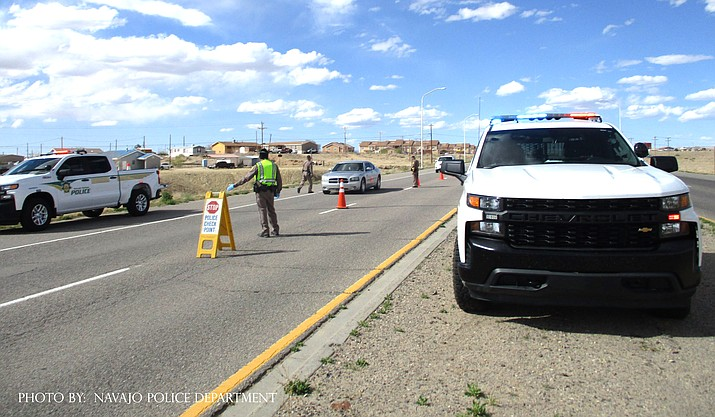 The Navajo Police Department confirmed April 15 that nine of its officers had tested positive for COVID-19. (Photo/Navajo Nation Police Department)